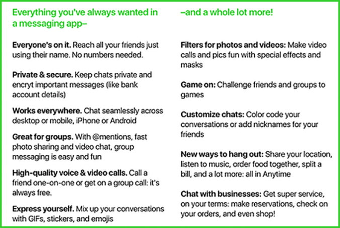 amazon_anytime_chat_app_feature_list.png